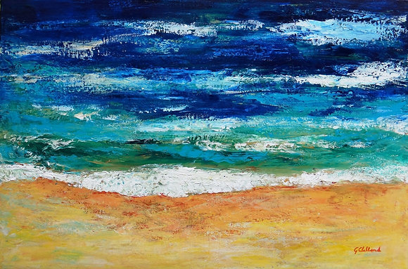 Australia Girt by Sea  51cm x76cm  acrylic & oil on stretched canvas