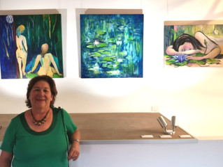 3 of my colourful paintings showing at new exhibition space at Coolum -CoolArt Gallery - TWELVE Cont