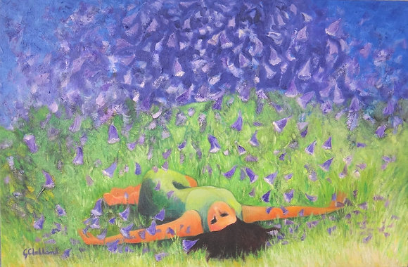 Jacaranda Dreaming  51cmx76cm oil on stretched canvas SOLD