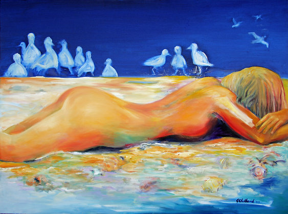 Beached Oil on stretched canvas 100cmx120cm ready to hang