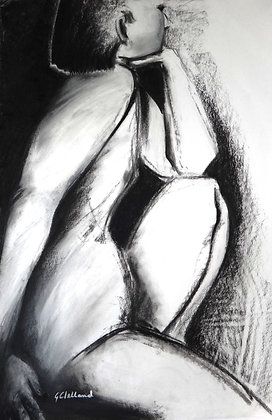 MAN    charcoal on white paper  80cx54cmm SOLD