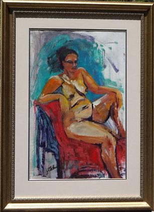Goddess of Colour  Acrylic FRAMED  image 80cmx53cm +Mat +Frame