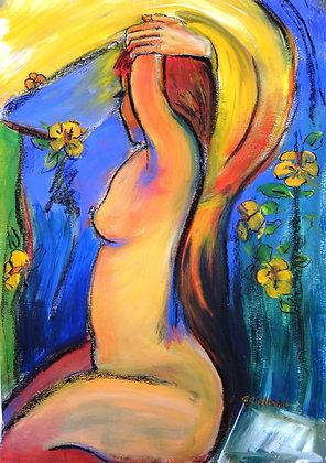 Golden Girl   Acrylic & mixed media sealed but not framed 60cmx40cm
