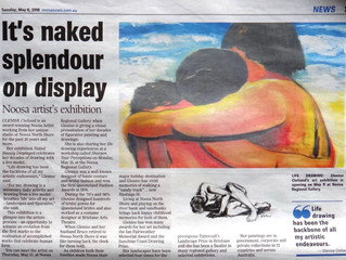 Thanks Noosa News for supporting local artists - my exhibition at Noosa Regional Gallery opens tomor