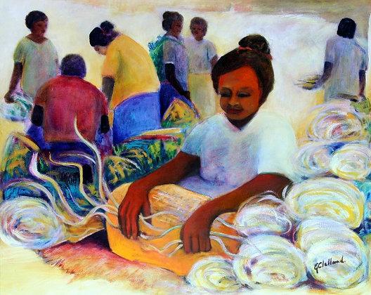 Samoan Markets   60cmx76cm     oil on canvas