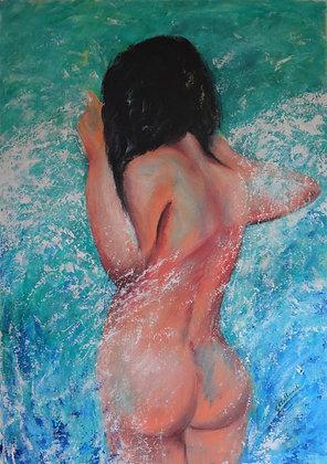 Skinny Dipping  acrylic  90cmx60cm