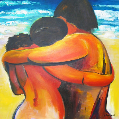 Golden Days  90cmx90cm Acrylic on stretched canvas