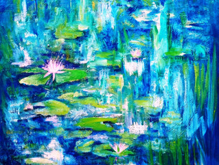 One of my favorite paintings of wetlands around my studio going to a new home.