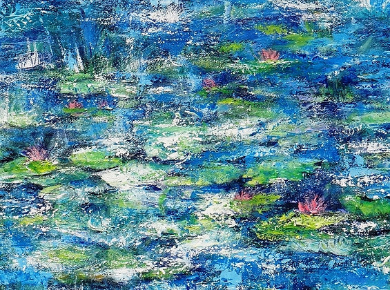 SOLD  Dancing Raindrops  71cm 91cm Acrylic on stretched canvas