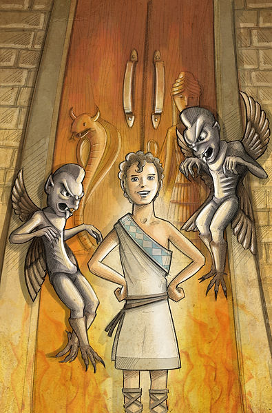 003_Gilgamesh_at_the_Underworld_gate__Pr