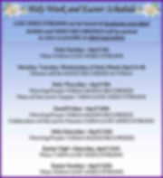 2020 Holy Week and Easter Schedule_COVID