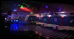 O Salão de Festas da boate fica no segundo piso