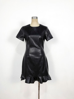 Vegan leather mini dress