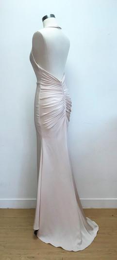 Elegant draped evening gown