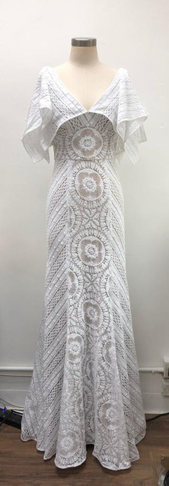 Bridal gown in English lace