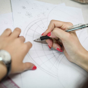 Embroidery design drafting