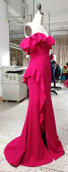 Evening gown with Frills & Boning