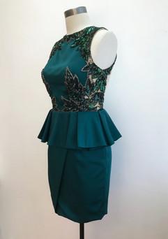 Hand embellished evening dress