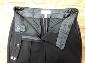 Tailored pants rocap inner waistband workmanship