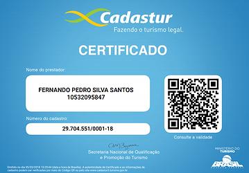 certificado cadastur dia pleno turismo