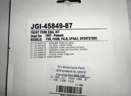 Harley Evolution,Twin Cam,Sportster FX,Dyna,XL, Front Fork Seal Kit   1987-up??