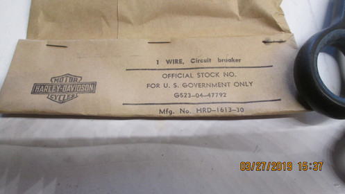 Harley Knuckle,Pan,45 Flathead Circuit Breaker Wire**NOS** 1936-60.P/N on