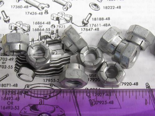 harley panhead flex lock nuts 1948 65 p n 7727