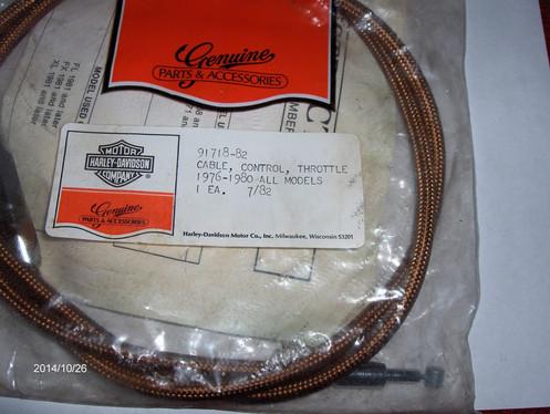 HARLEY SHOVELHEAD,SPORTSTER, BRAIDED THROTTLE CABLE 1976-80 P/N 91718-82