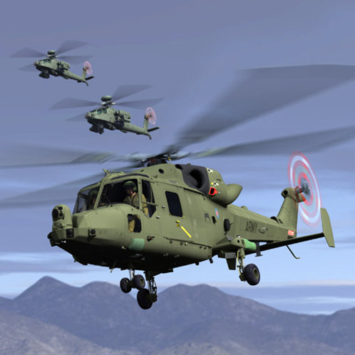 Lynx Mk7 Helicopter From