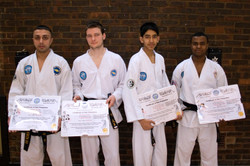 The Academy's very first black belts