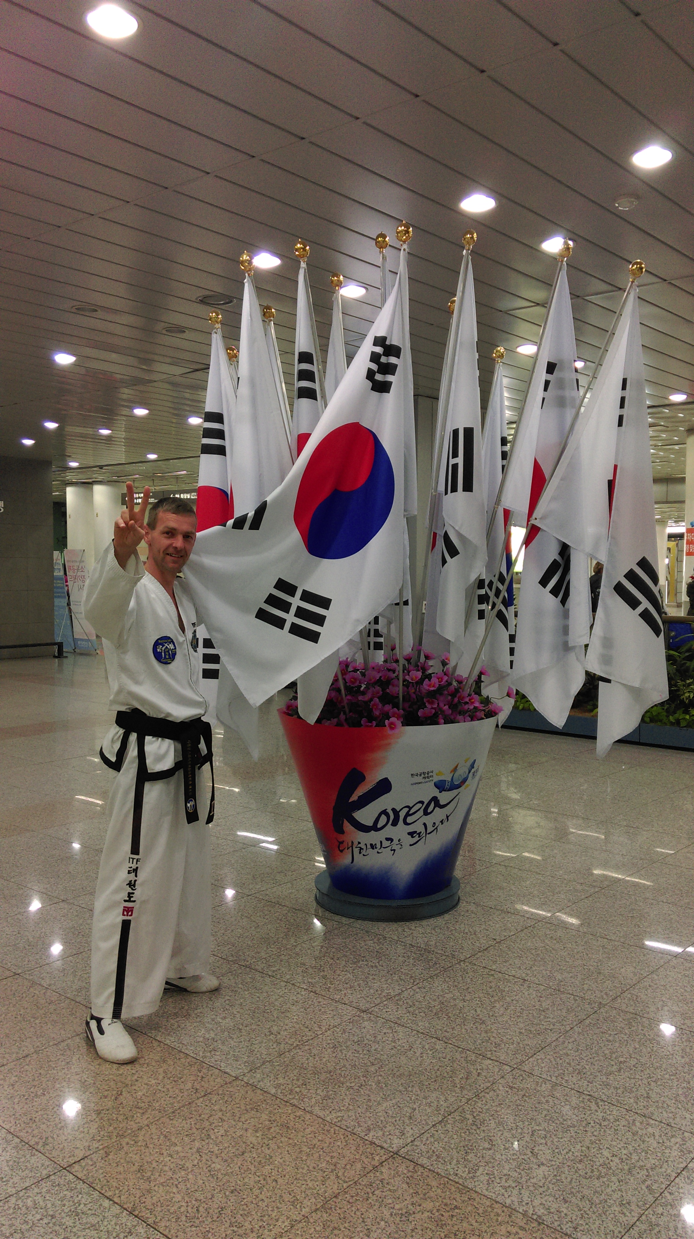 Mr Anslow in South Korea