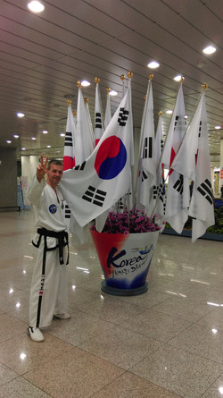 Mr Anslow in South Korea