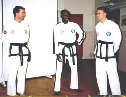 Mr Anslow, with his instructor, 1994