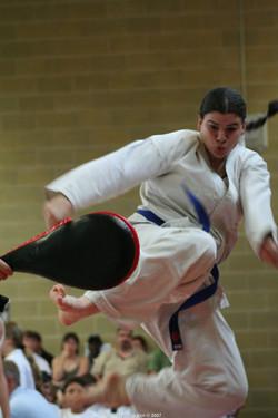 Ms Barry - Flying Side Kick