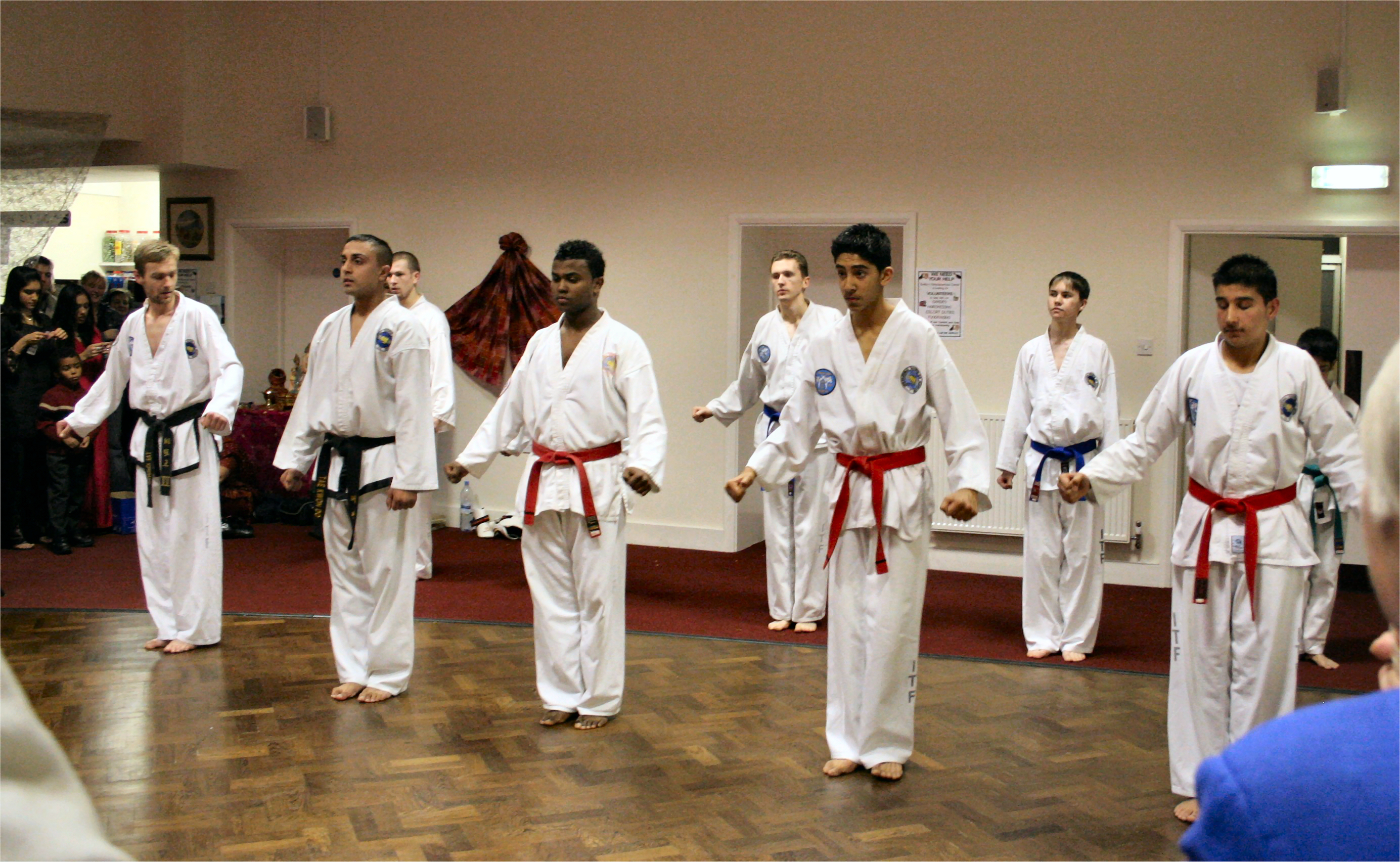 Students performing a demo in 2005