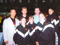 With students at World Champs, 2000