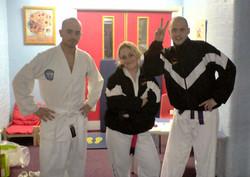 Phil, Lyndsey & Marek have fun, 2007