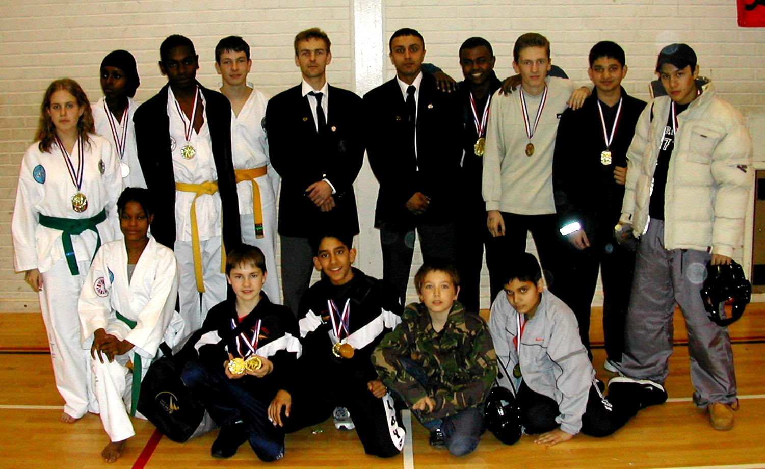 Students with their medals