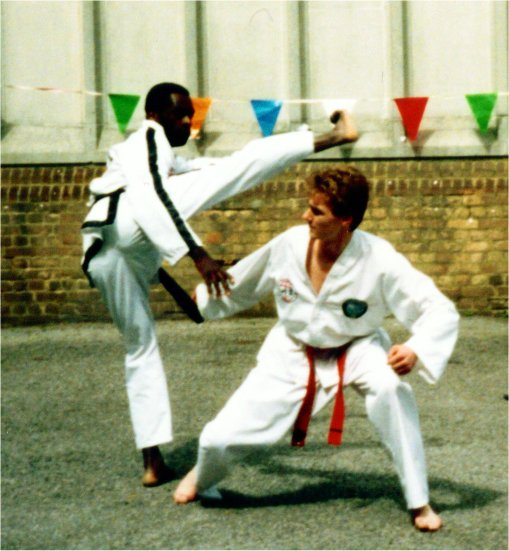 Early demo with his Instructor, 1993