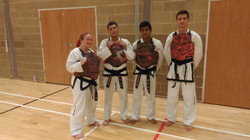 Blacks belts ready for action