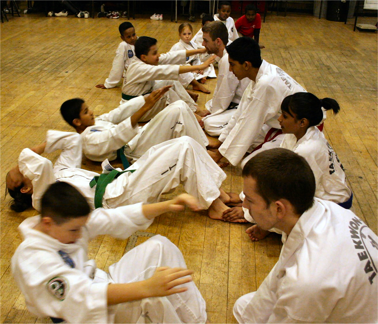 Kids class in training