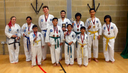 A few of the students who entered the Tournament showing their medals