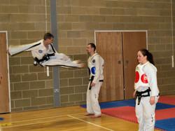Twin Flying Side Piercing Kick