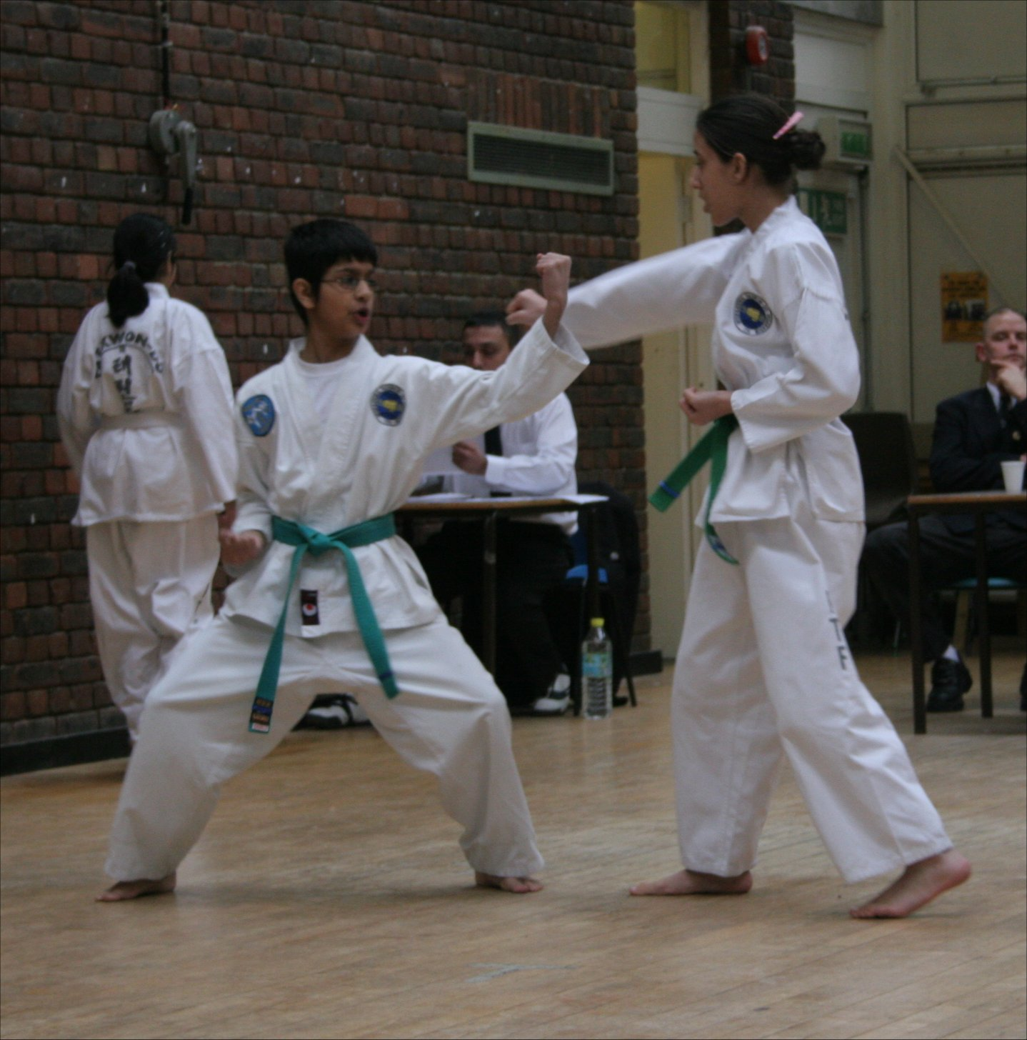 Students at a grading