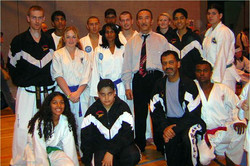 Students with GM Hee Il Cho, 2004