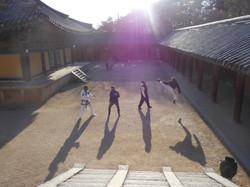 Training in South Korea