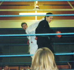 Mr Anslow in the ring, 1993