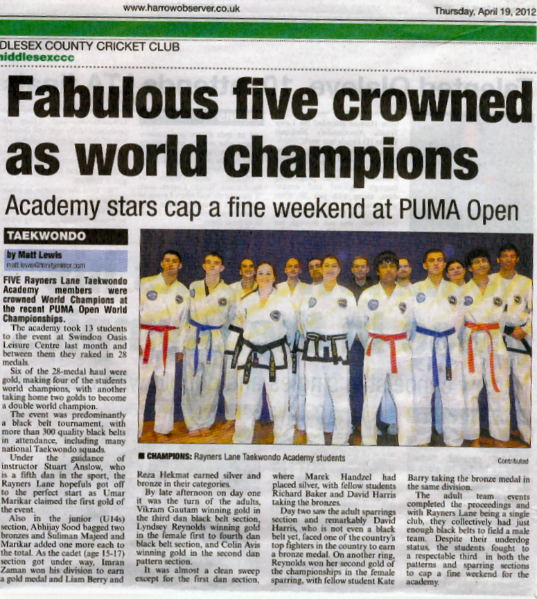 News Report of PUMA Worlds 2012