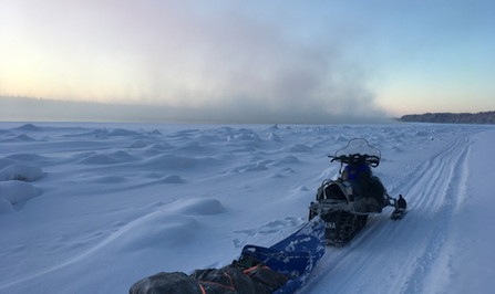 winter travel Yukon River trail