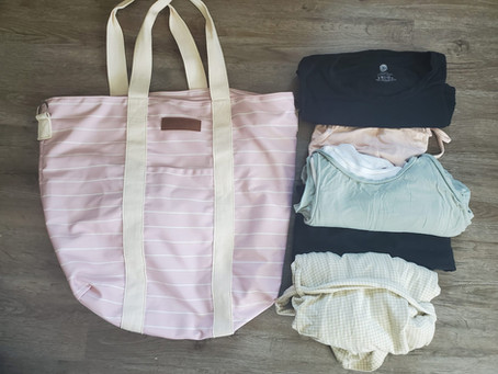 What I've Packed in My Hospital/Birth Center Bag